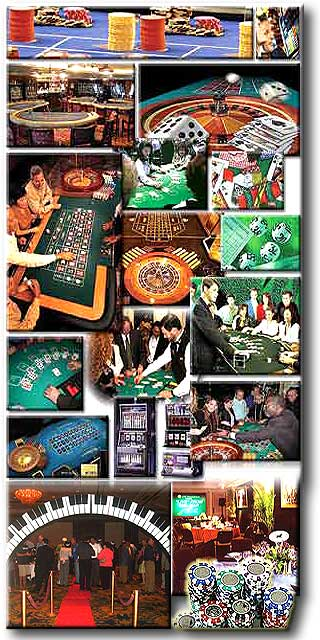Atlanta St Louis Kansas City CASINO party REAL tables REAL