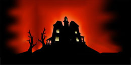 HAUNTED HOUSE ON THE HILL BACKDROP
